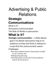 Day 10 Advertising & Public Relations Exam 2
