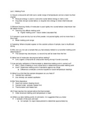 Orgo Lab 1st Quiz Study Guide