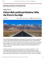 China's Belt and Road Initiative_ Why the Price Is Too High - Knowledge@Wharton.pdf