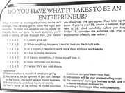 Self assessment of Entrepreneurial Skills