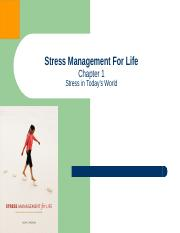 Chapter One - Stress Management