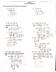 Notes on System of Equations