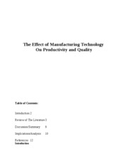 TheEffectofManufacturingTechnology Final Copy