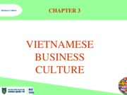 Vietnamese Business culture CHAPTER 3