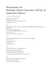 MCQ-Induction-Motors Without Answers.docx