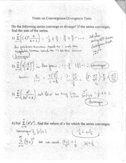 Convergence and Divergence Test Notes