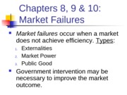 ECN203 8,9 & 10 Market Failure
