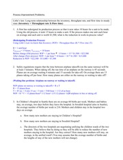 Chapter 6 Process Improvement Study Guide