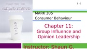 MARK 305-Fall 2014-Chapter 11