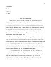 3 pages global warming essaydocx