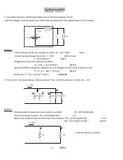HW#1 Solution Electrical systems
