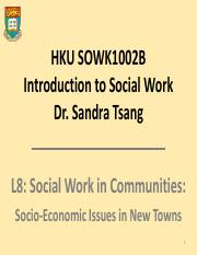 L8 Socio-economic Issues in New Towns