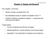 ch 2 Supply and Demand