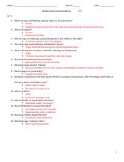Othello Study Guide Questions KEY