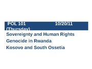 POL101 Sovereignty & Human Rights