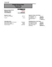 Bank Reconciliation Case