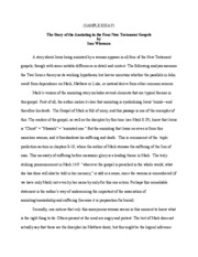 Sample Essay Assignment--Anointing Story[1]