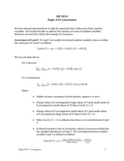 Topic 13-Covariance