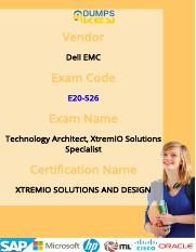 Dell EMC E20-526 Exam Practice Test Questions
