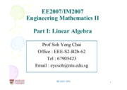 Pt I -1 System of Linear Equations