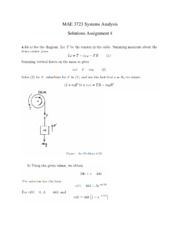 Solutions Assignment 4