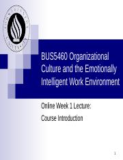 BUS5460 Online Week 1 Lecture