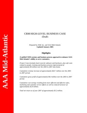 AAA MA High - level Business Case-updated January 05