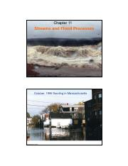 11&12-Streams and Flood Processes