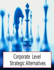 corporatelevelstrategicalternatives.ppt