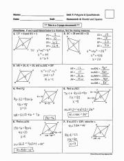 homework 4 rhombi and squares