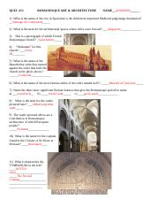 ROMANESQUE ANSWERS