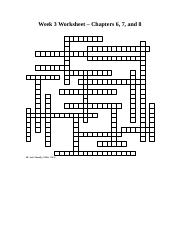 Week3crosswordandclues