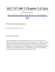 ACC 557 Week 5 Chapter 5,6 Quiz.docx