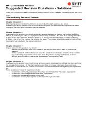 MKTG1045 Suggested Revision Solutions - The Marketing Research Process(1)