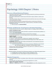 Psych 1000 Textbook Notes Chapter 1-17- Another Version.docx