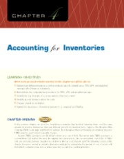 Chapter 4 Accounting for Inventories