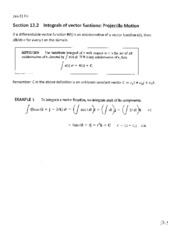 Lecture Notes on Projectile Motion