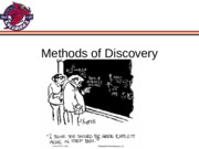 Ch 13 - Methods of Discovery