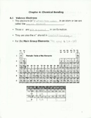 chem 123 chemical bonding notes