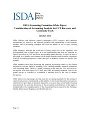 ISDA Accounting Committee_CCP Recovery tools White Paper -  Oct 13 2015 FINAL.pdf