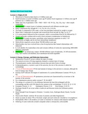 Biochem 2EE3 Exam Study Sheet