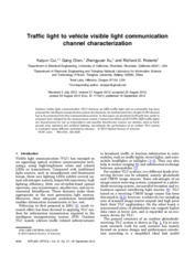 Traffic light to vehicle visible light communication channel characterization