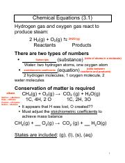 Chapter 3 Notes Chemistry 1210