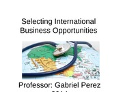 PART 3 - Selecting International Business Opportunities