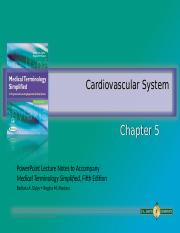 Ch 5 Cardiovascular System.ppt