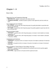 Midterm Review, Chapters 1 - 9