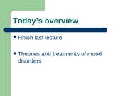 L12 - mood disorders, part 2r