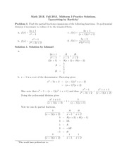 Midterm 3 Practice Solutions