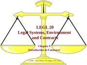 LGL 20 - Ch 09 -  Introduction to Contracts