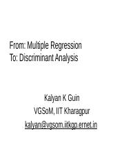regression to discriminant
